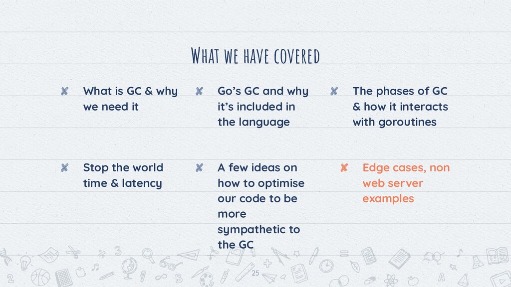 What we have covered ✘ What is GC & why we need...