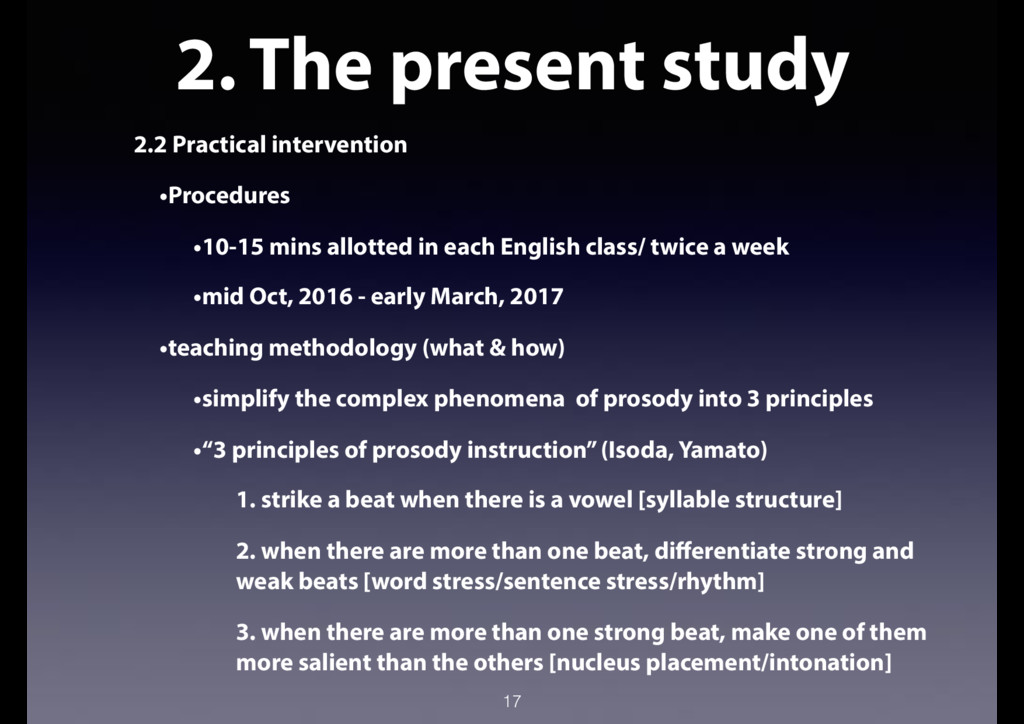 2. The present study 2.2 Practical intervention...