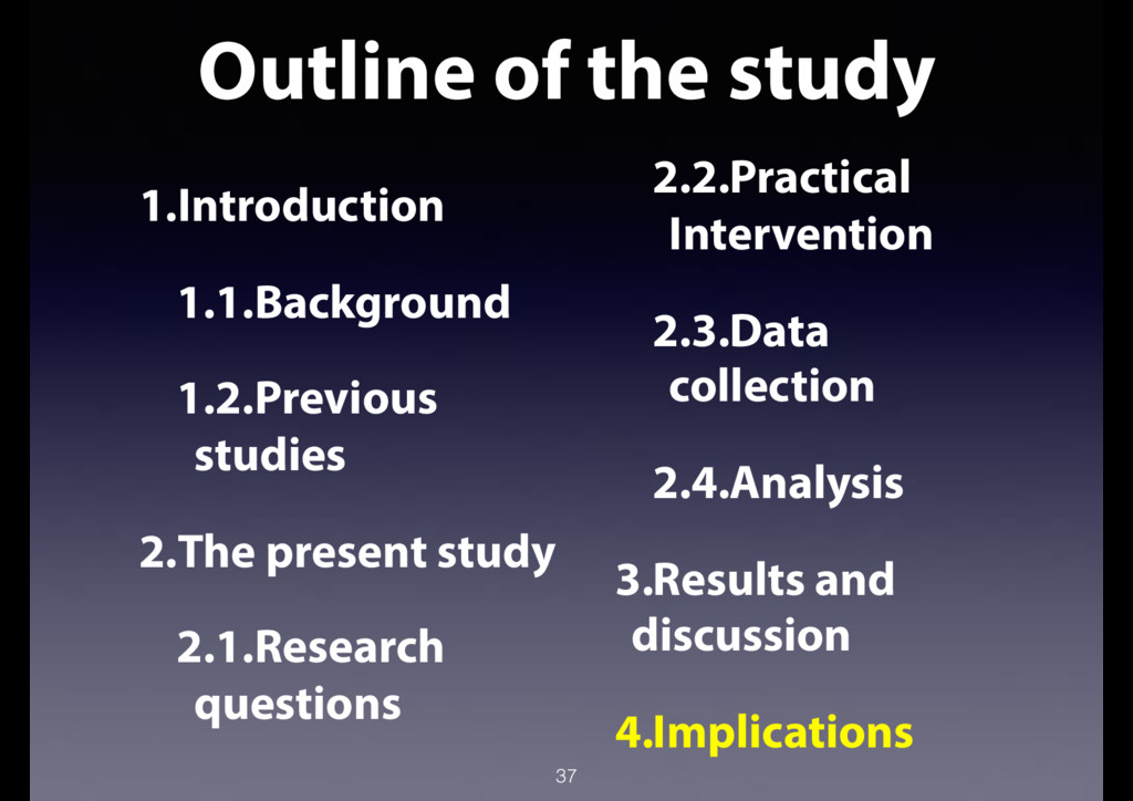 Outline of the study 37 1.Introduction 1.1.Back...