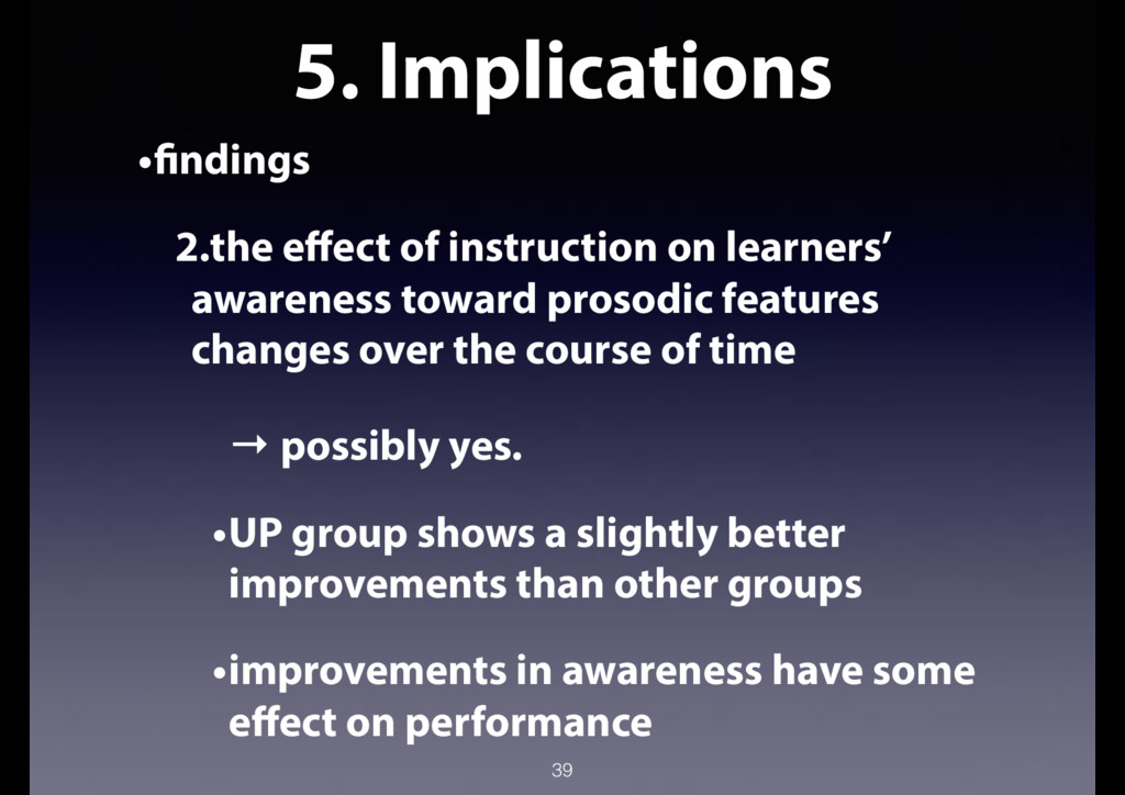 5. Implications •findings 2.the effect of instr...