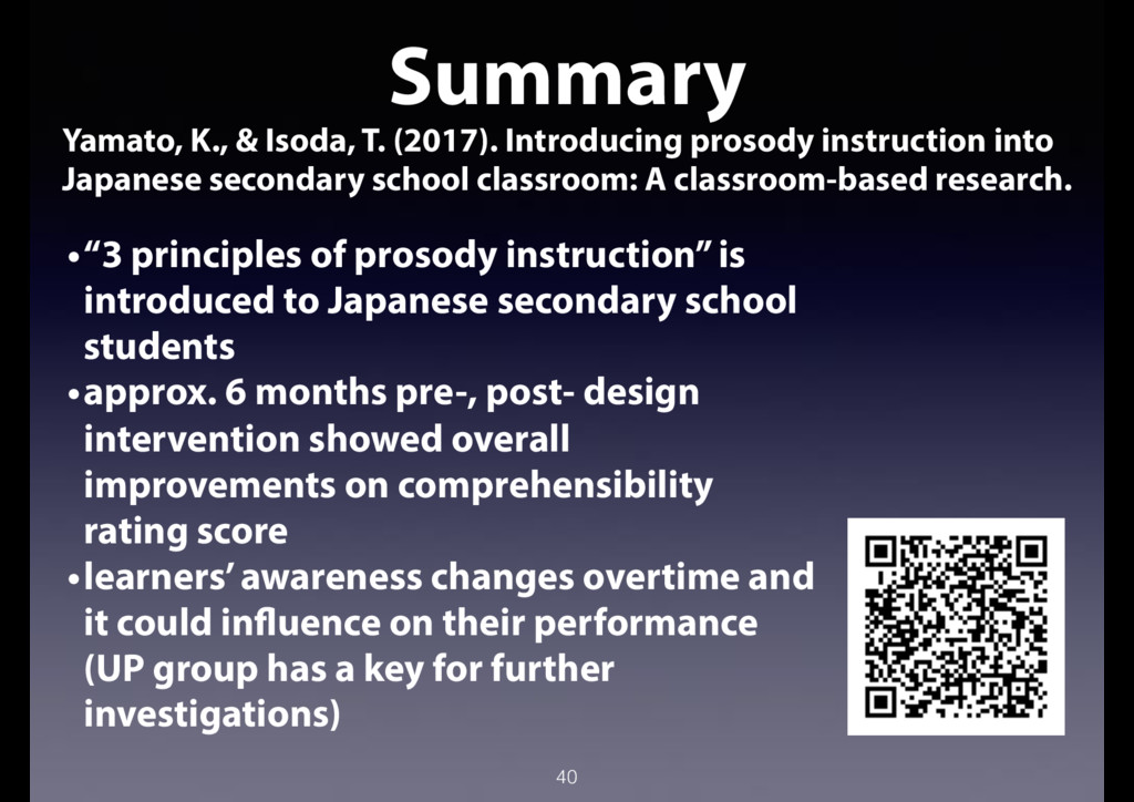 40 Summary Yamato, K., & Isoda, T. (2017). Intr...