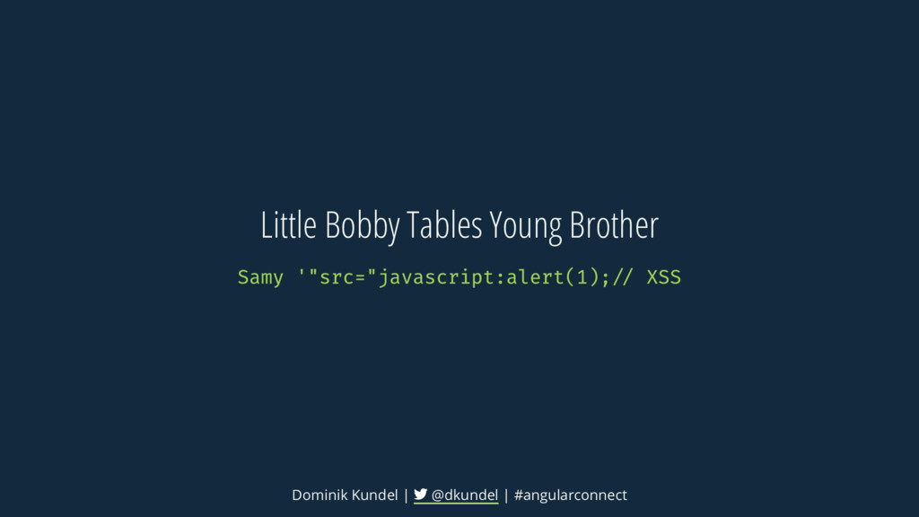Little Bobby Tables Young Brother Dominik Kunde...