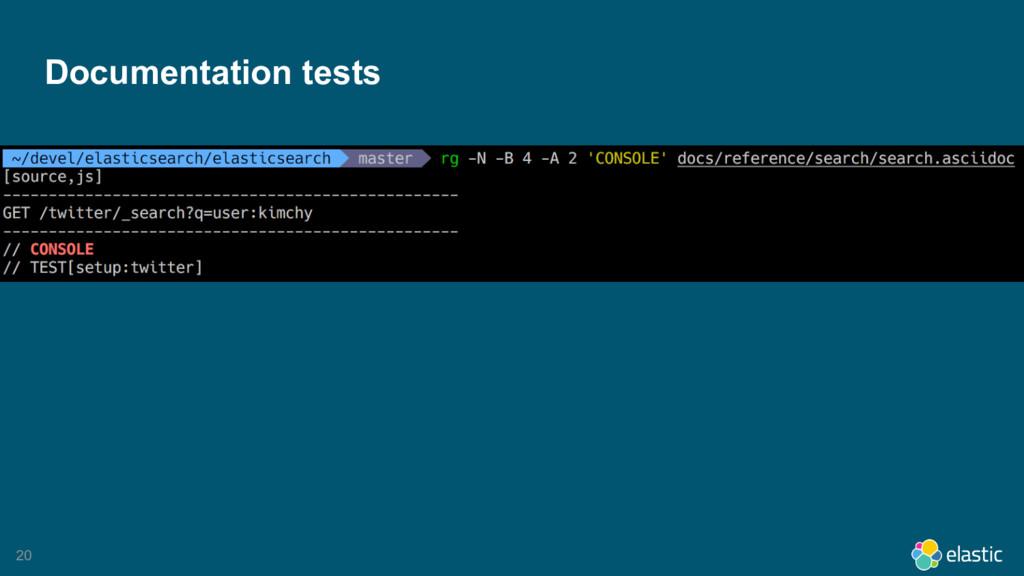 20 Documentation tests
