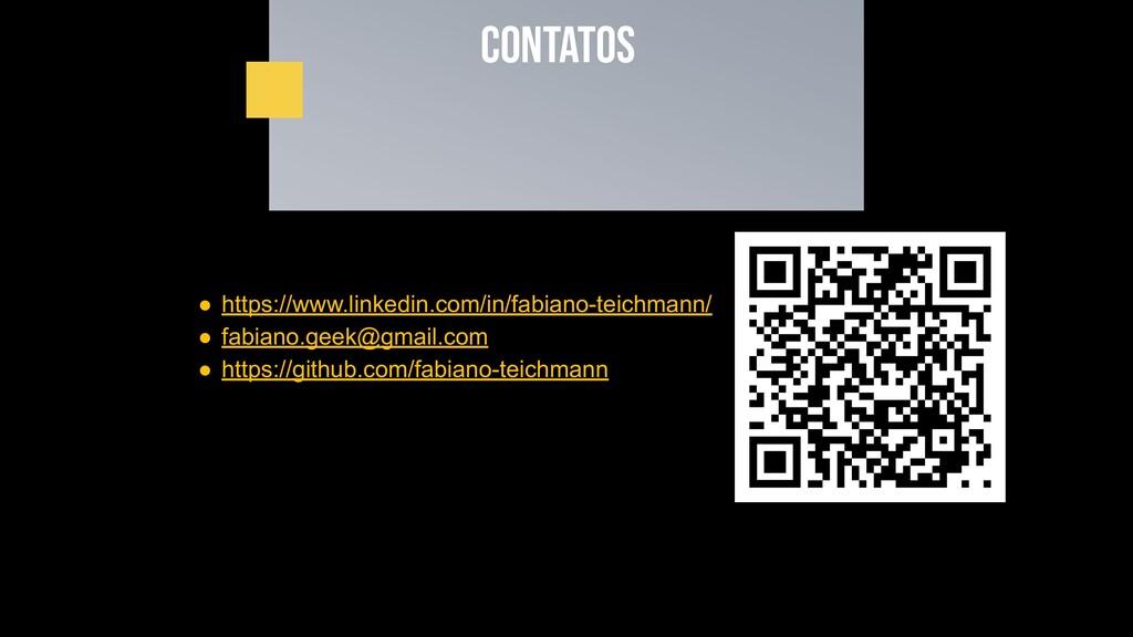 Contatos ● https://www.linkedin.com/in/fabiano-...