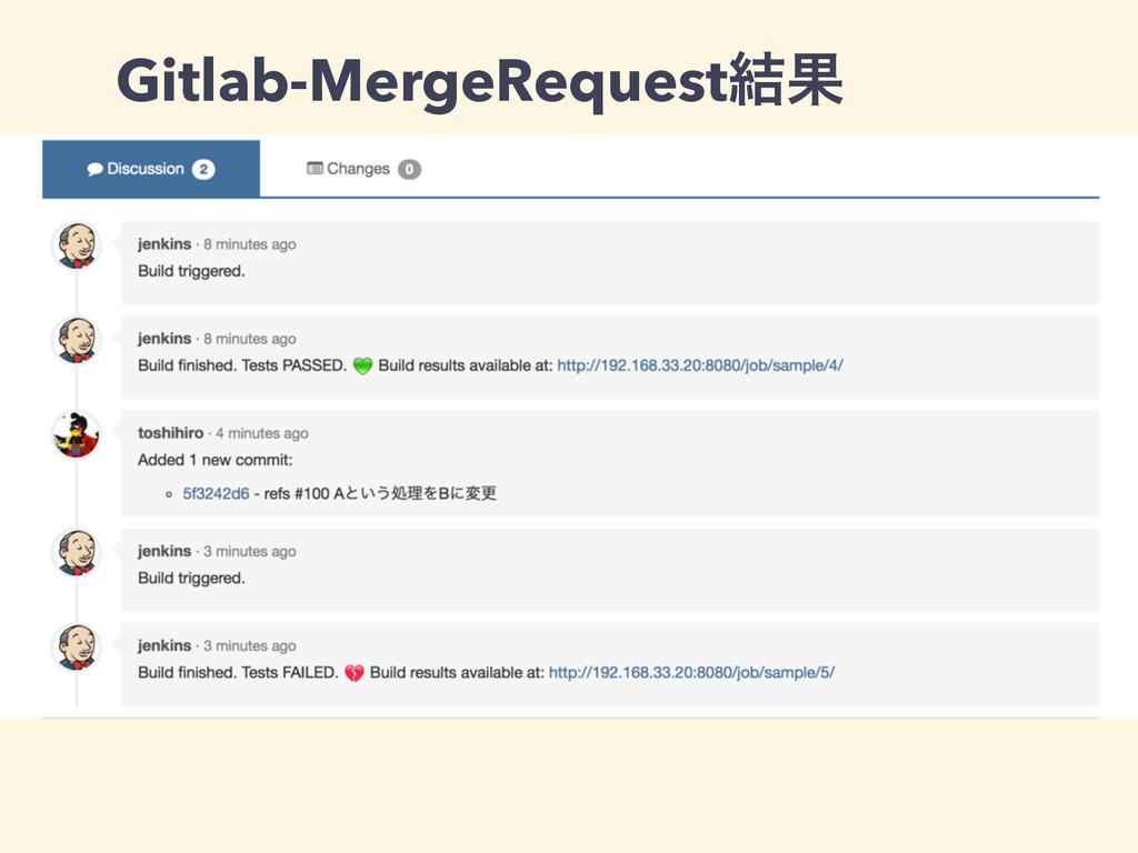 Gitlab-MergeRequest݁Ռ
