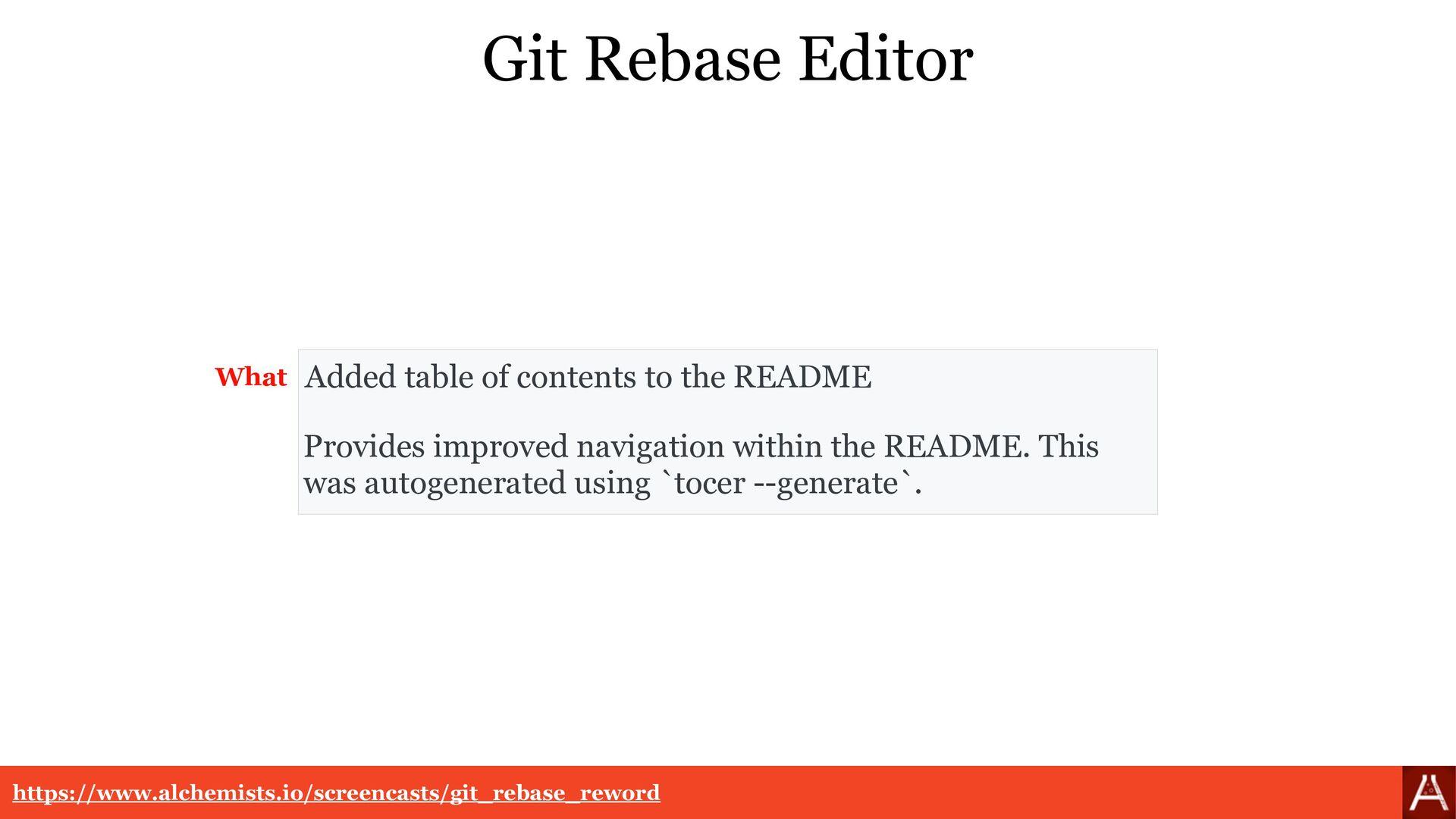 Git Rebase Editor Provides improved navigation ...