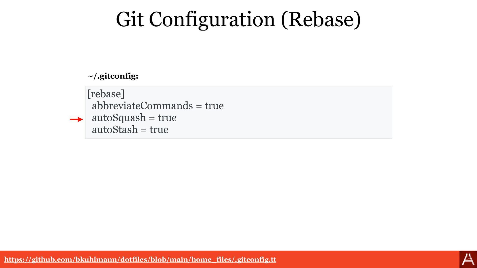 [rerere]   enabled = true   autoUpdate = true G...