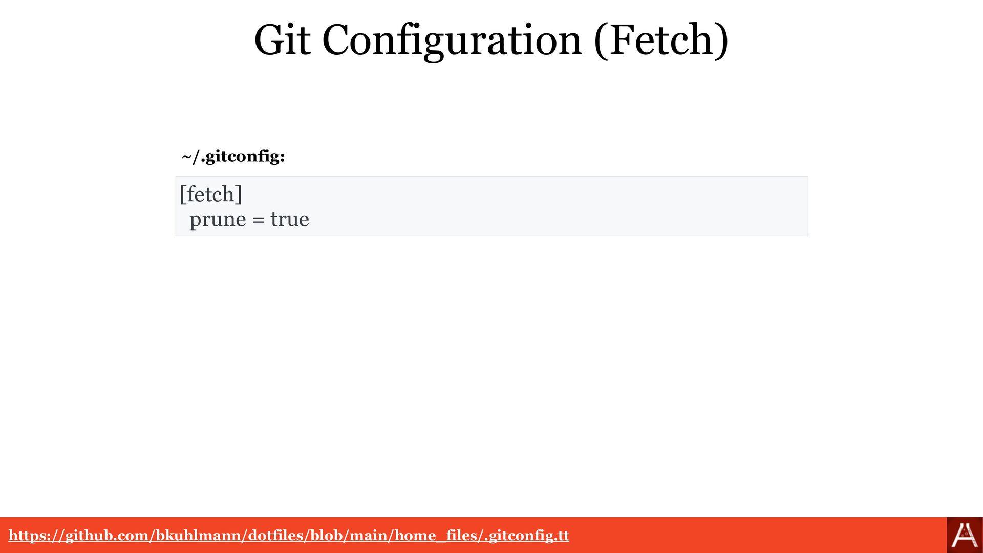 [pull] rebase = true Git Configuration (Pull)  ...
