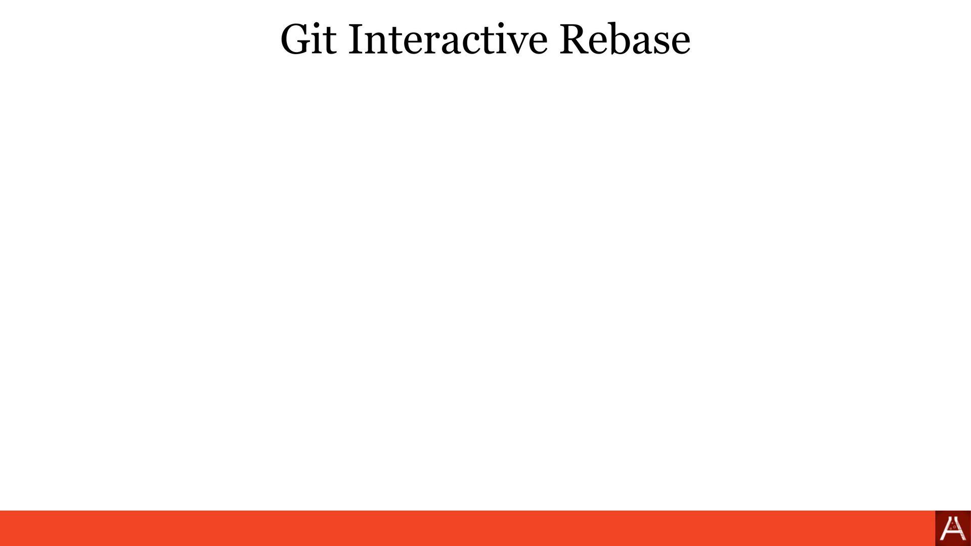 Git Rebase CLI git rebase --interactive main (s...