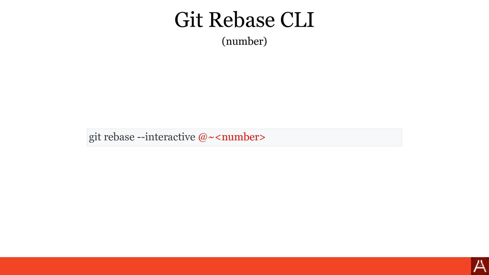 (by branch) git rebase --interactive <branch> G...