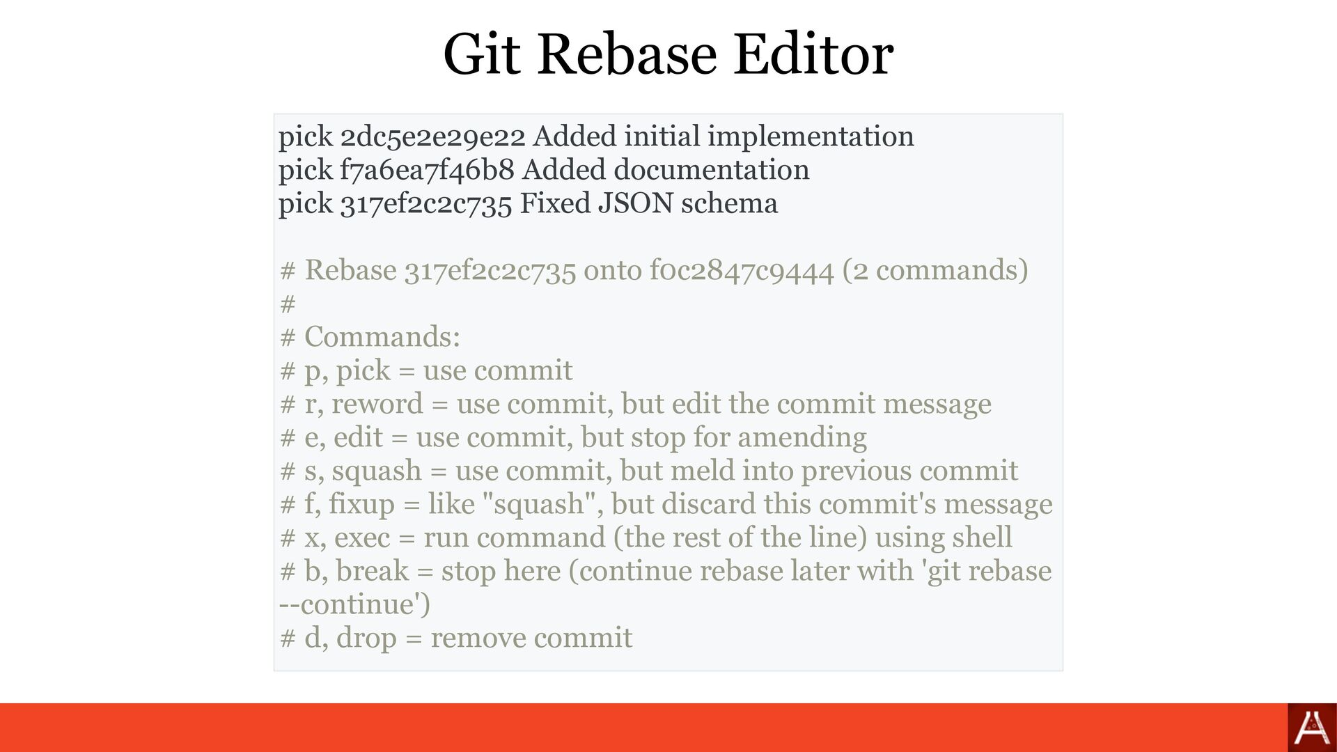 (by root) git rebase --interactive --root Git R...