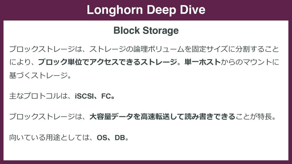 Longhorn Deep Dive ブロックストレージは、ストレージの論理ボリュームを固定サ...