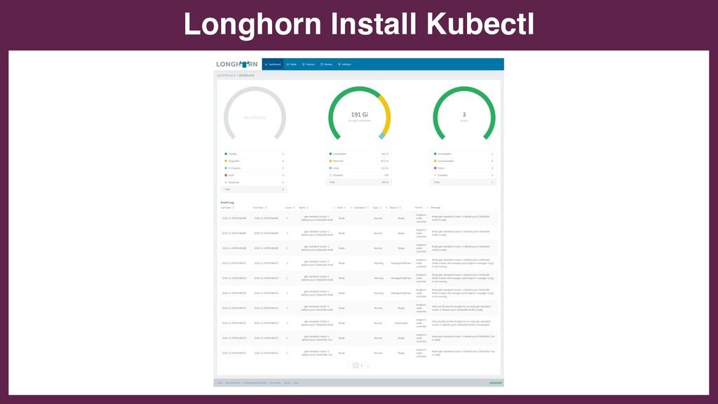 Longhorn Install Kubectl