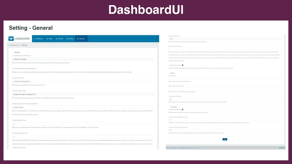 DashboardUI Setting - General