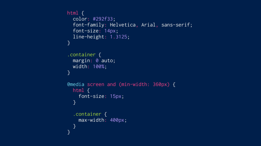 html { color: #292f33; font-family: Helvetica, ...