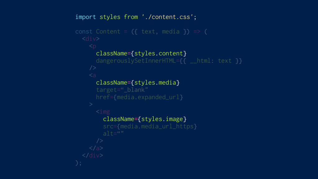 import styles from './content.css'; const Conte...