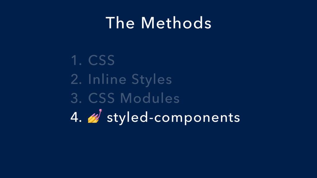 1. CSS 2. Inline Styles 3. CSS Modules 4.  styl...