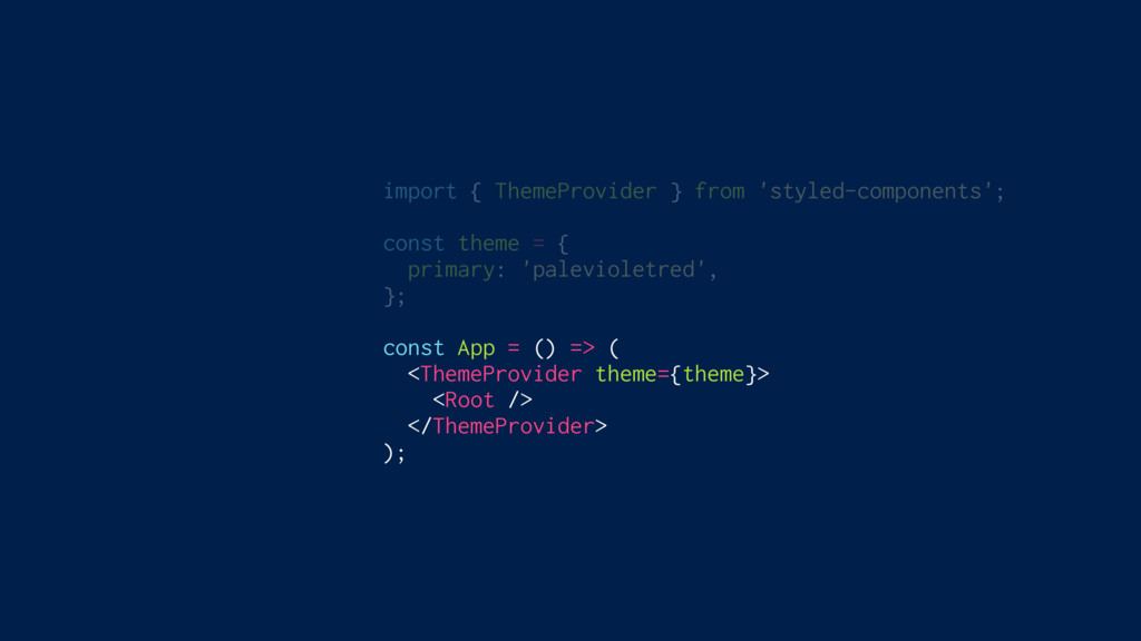 import { ThemeProvider } from 'styled-component...