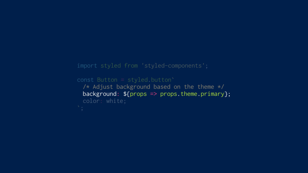 import styled from 'styled-components'; const B...