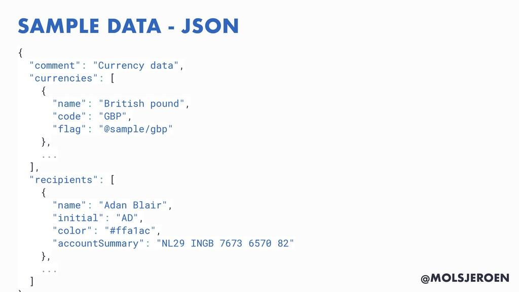 "@MOLSJEROEN SAMPLE DATA - JSON { ""comment"": ""Cu..."