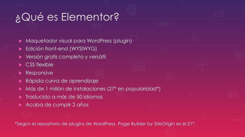 ¿Qué es Elementor? u Maquetador visual para Wo...