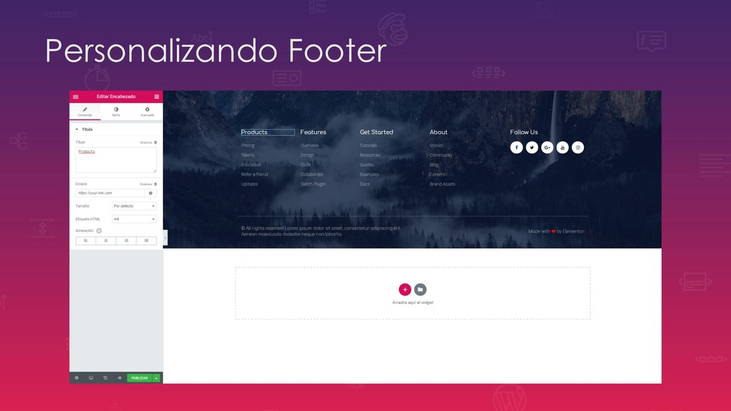 Personalizando Footer