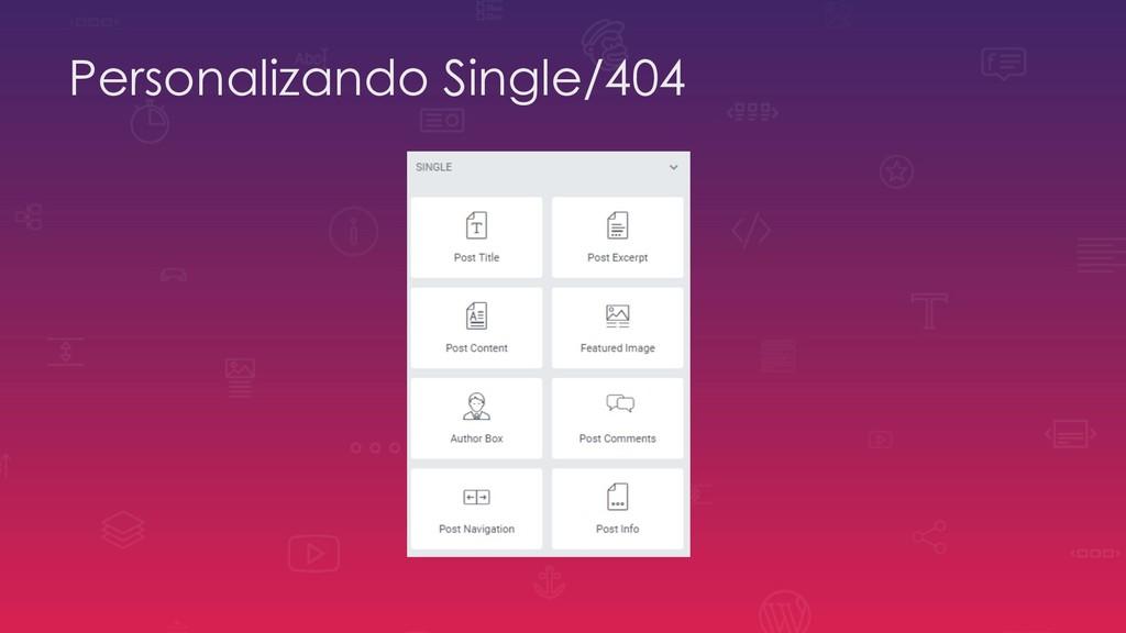 Personalizando Single/404