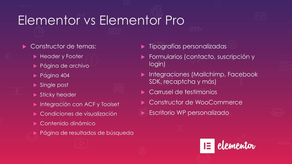 Elementor vs Elementor Pro u Constructor de te...