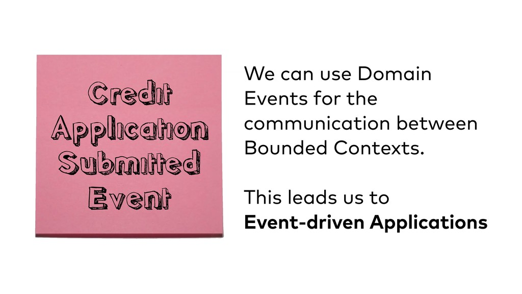 Credit Application Submitted Event We can use...