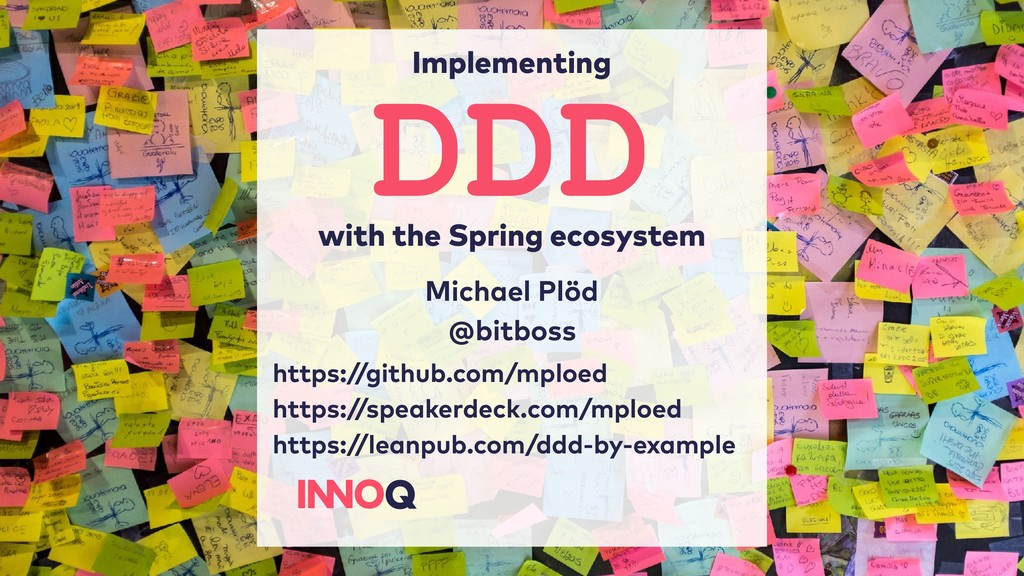 Implementing with the Spring ecosystem Michael ...