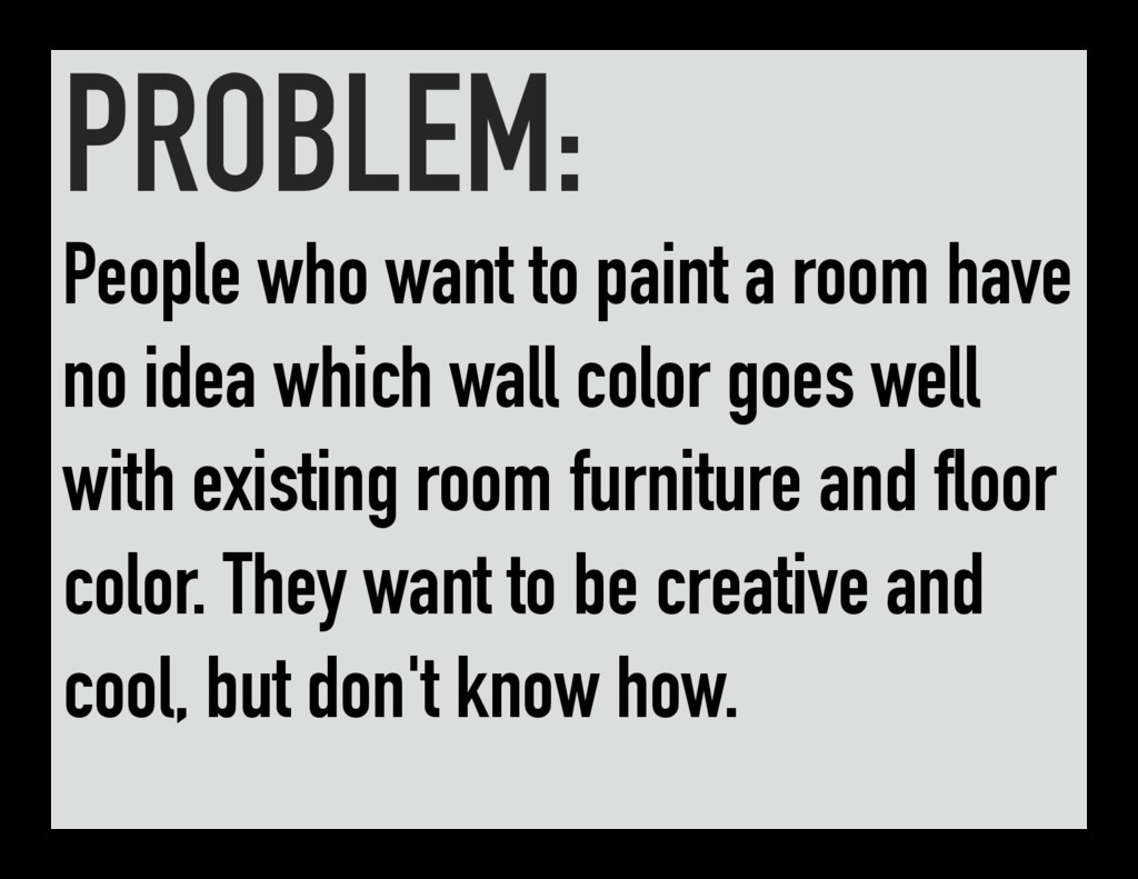 PROBLEM: People who want to paint a room have n...
