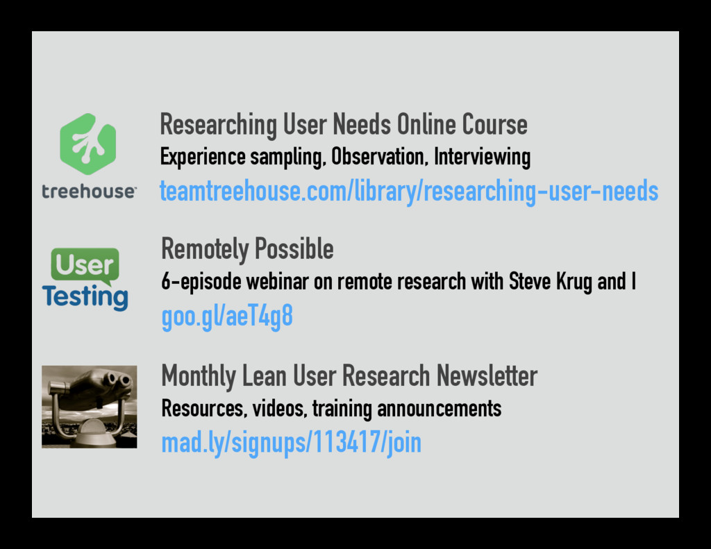 Researching User Needs Online Course Experience...
