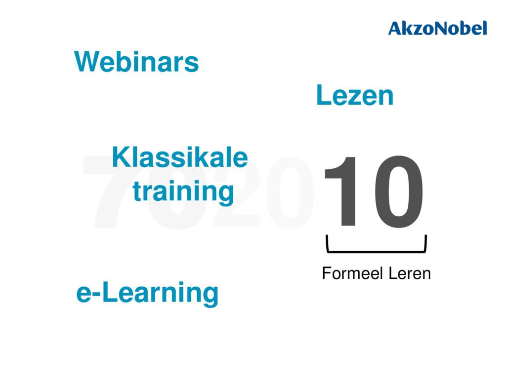 702010 10 Formeel Leren Klassikale training e-L...