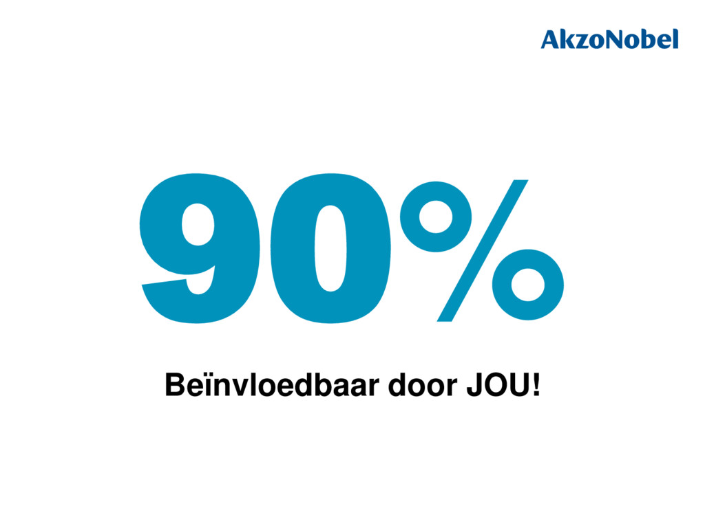 90% Beïnvloedbaar door JOU!