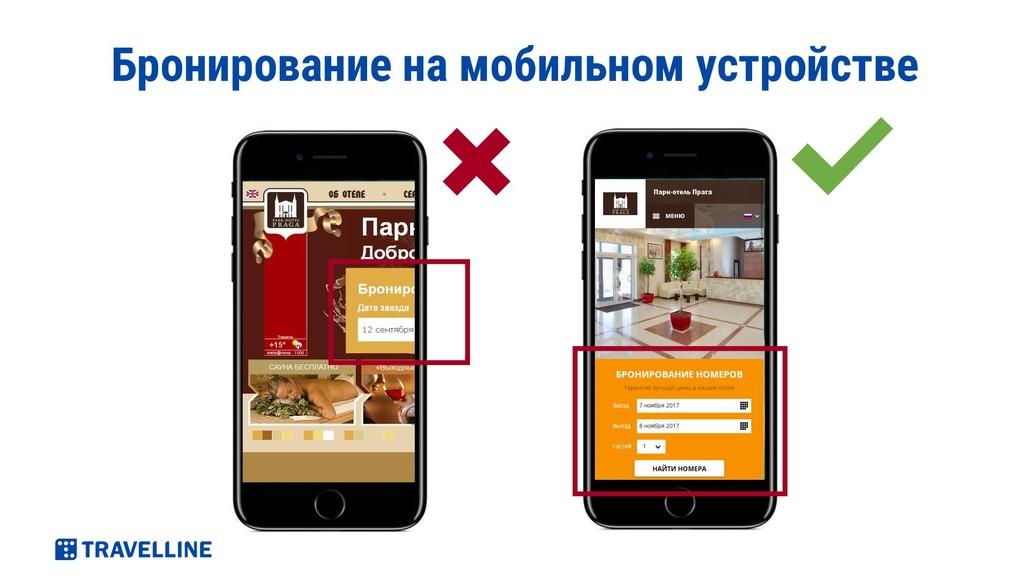 Бронирование на мобильном устройстве