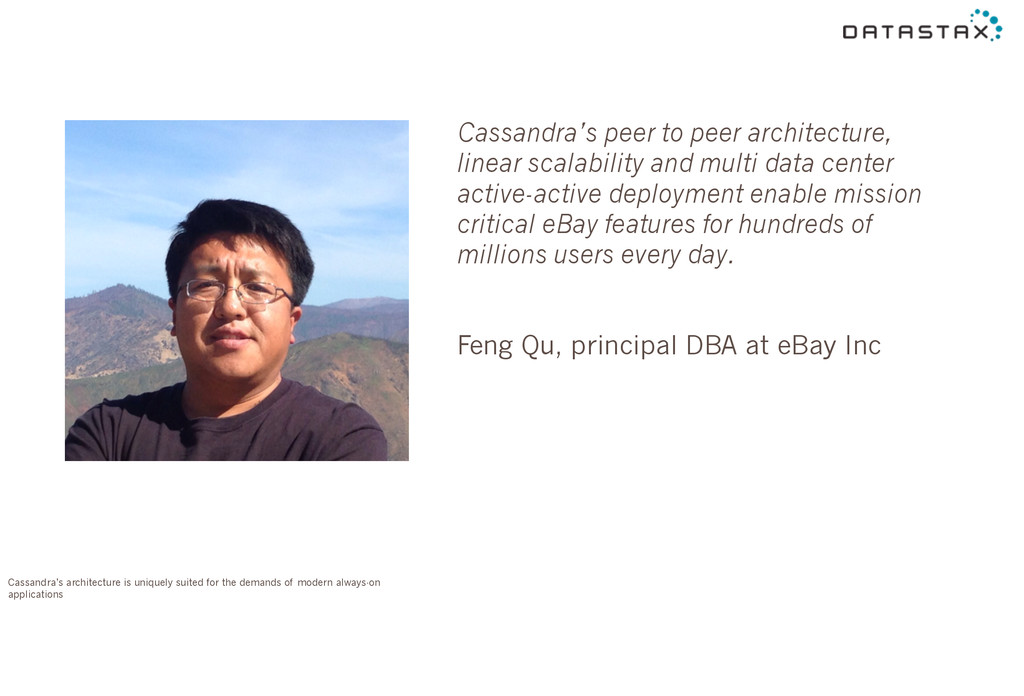 Cassandra's peer to peer architecture, linear s...