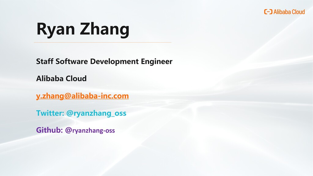 Ryan Zhang Staff Software Development Engineer ...