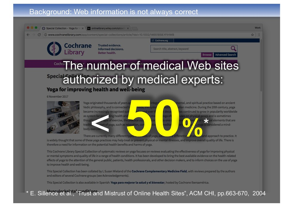Background: Web information is not always corre...