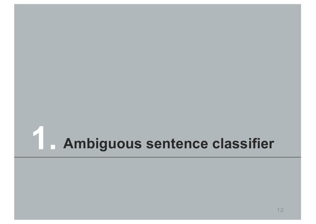 12 Ambiguous sentence classifier 1.