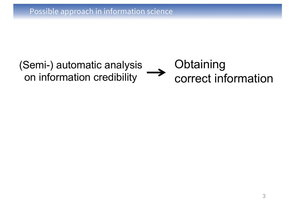 Possible approach in information science 3 Obta...