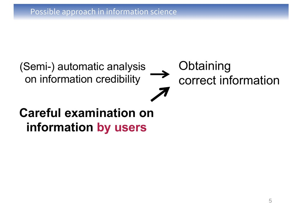 Possible approach in information science 5 Obta...