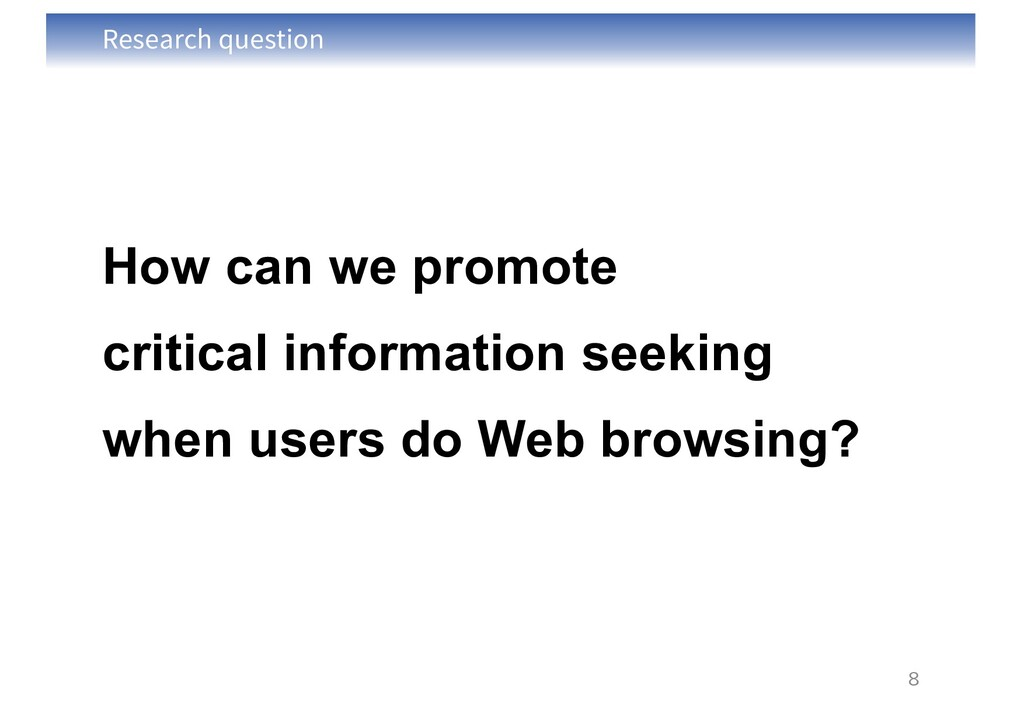 Research question How can we promote critical i...
