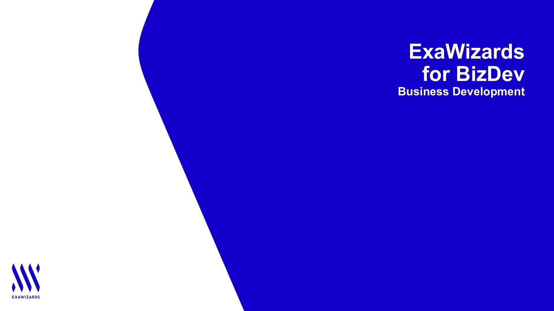 ExaWizards for BizDev Business Development