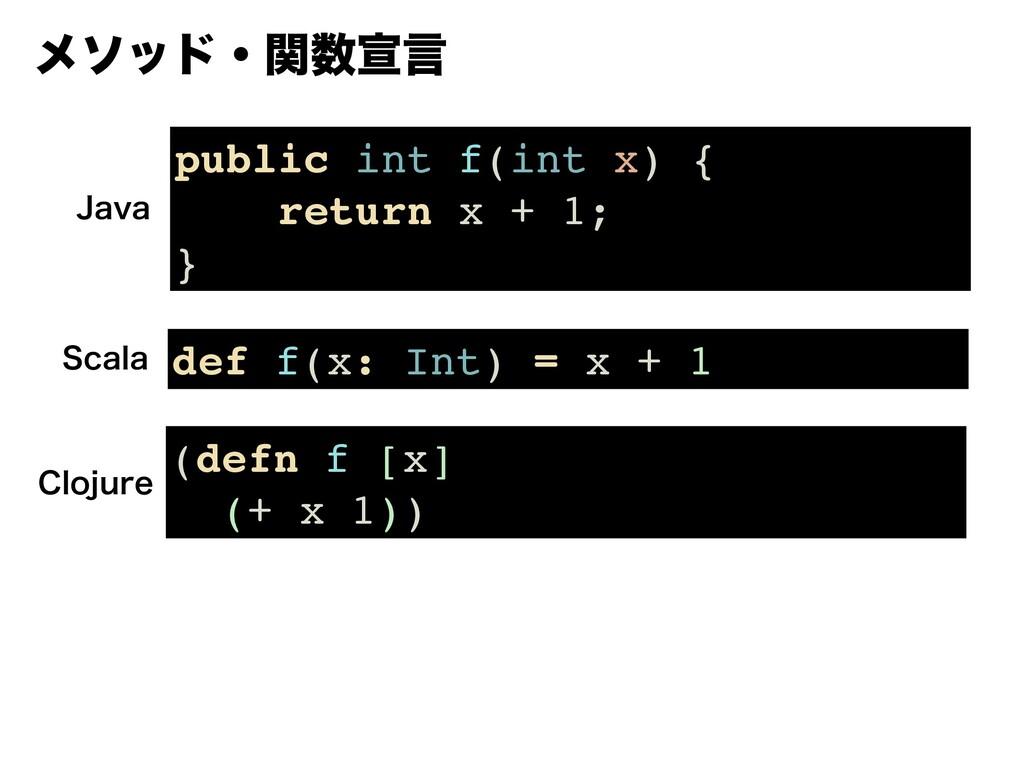 ϝιουɾؔએݴ public int f(int x) { return x + 1; }...