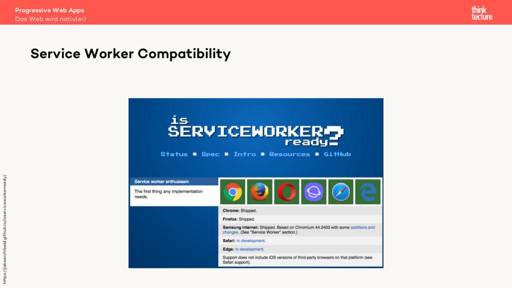 Progressive Web Apps Das Web wird nativ(er) Ser...