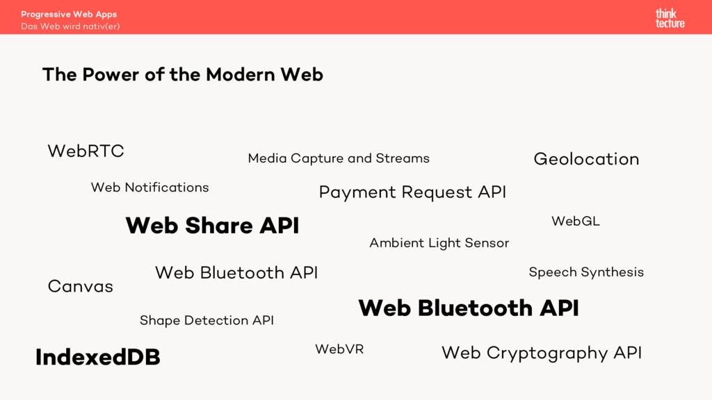 The Power of the Modern Web Web Share API Web B...
