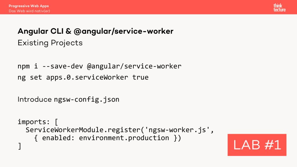 Existing Projects npm i --save-dev @angular/ser...