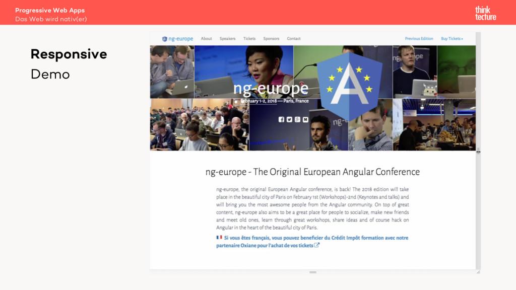 Progressive Web Apps Das Web wird nativ(er) Res...