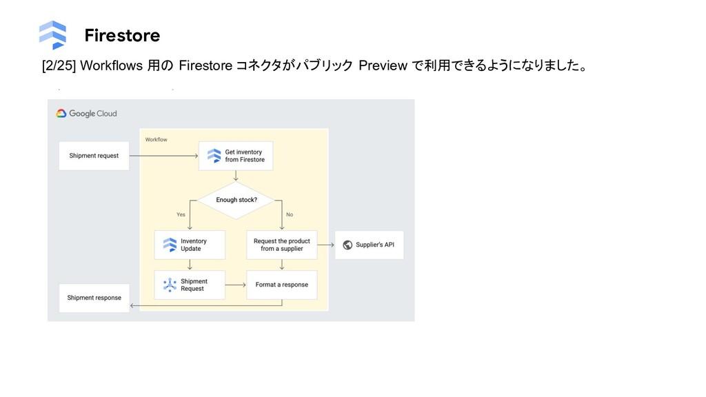 Firestore [2/25] Workflows 用の Firestore コネクタがパブ...