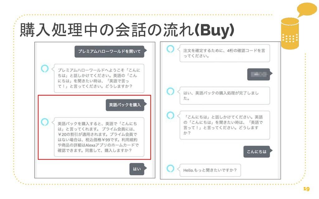 19 購入処理中の会話の流れ(Buy)